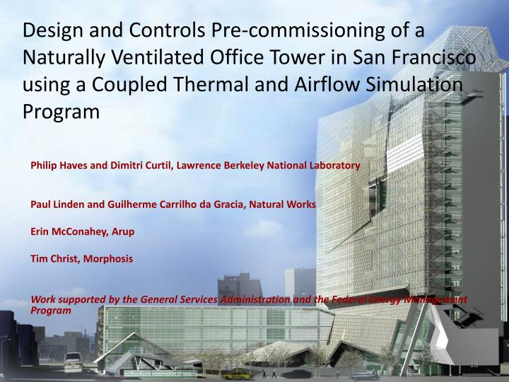 Design and Controls Pre-commissioning of a