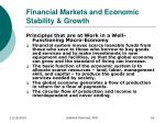 financial markets and economic stability growth