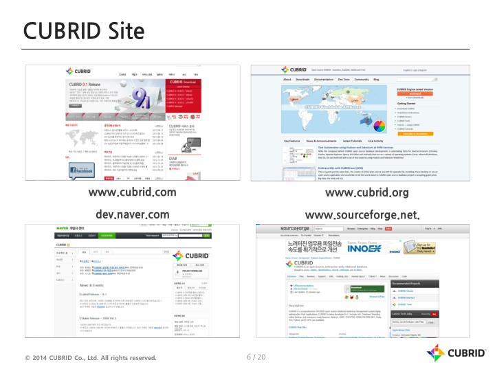 CUBRID Site