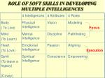 role of soft skills in developing multiple intelligences