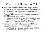 what type of memory for video