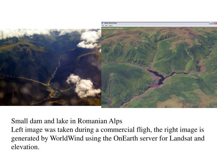 Small dam and lake in Romanian Alps
