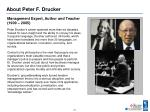 about peter f drucker