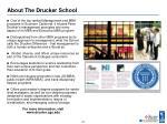 about the drucker school