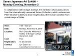 sanso japanese art exhibit monday evening november 2