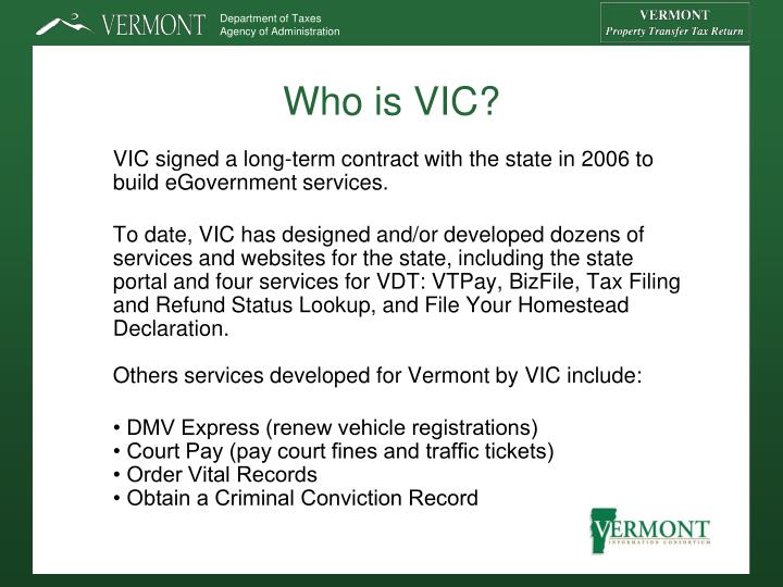 Who is VIC?