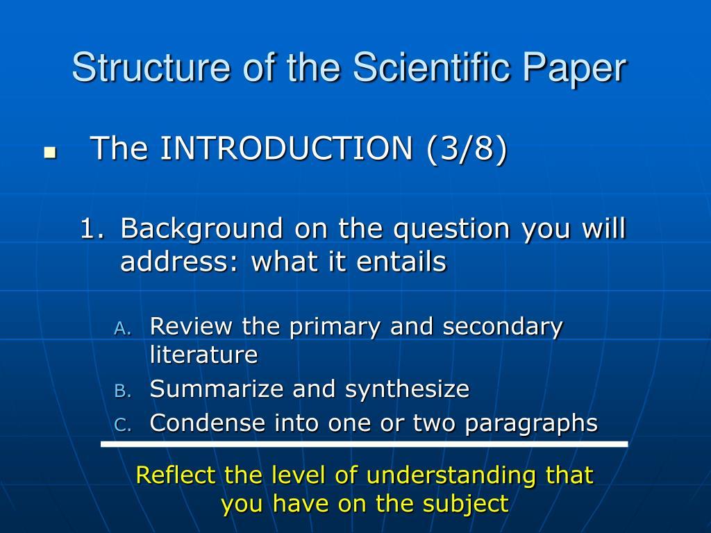 Scientific thesis