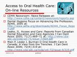access to oral health care on line resources1