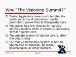 why the visioning summit