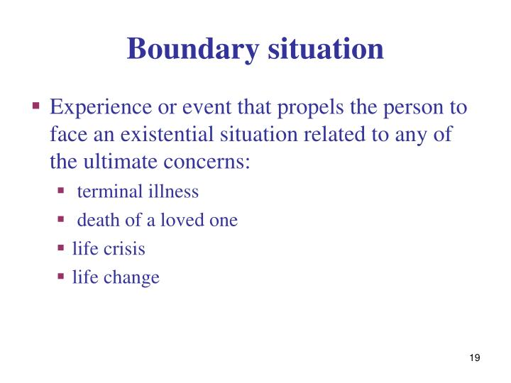 Boundary situation