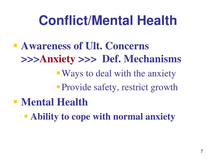 Conflict/Mental Health