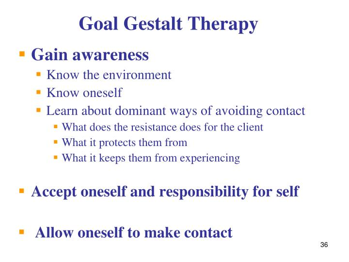 Goal Gestalt Therapy