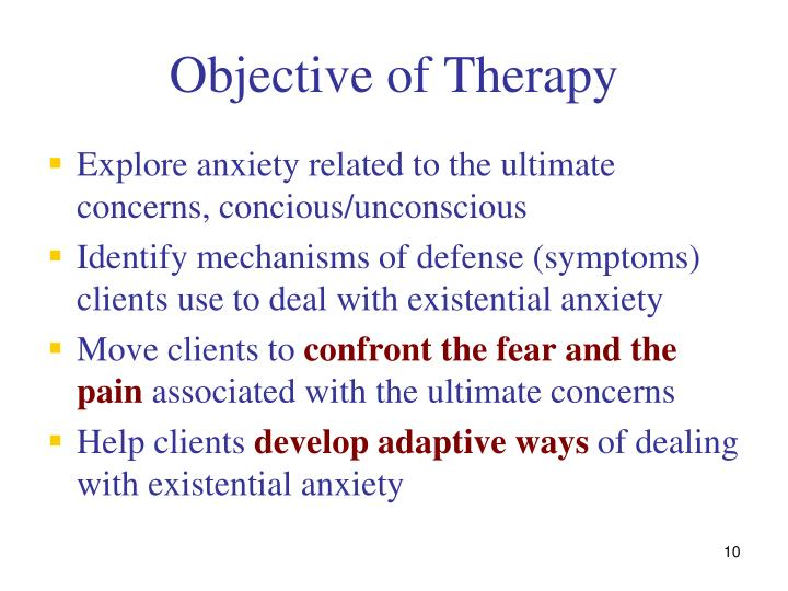 Objective of Therapy