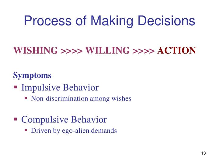 Process of Making Decisions
