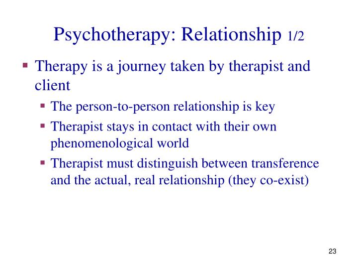 Psychotherapy: Relationship