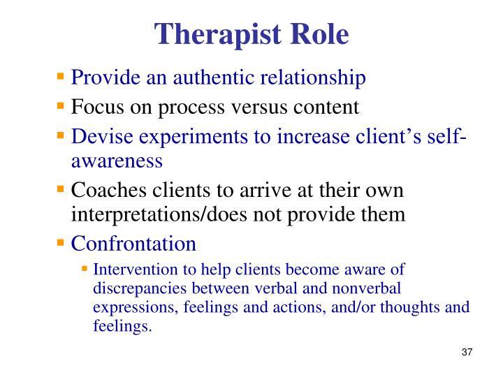Therapist Role
