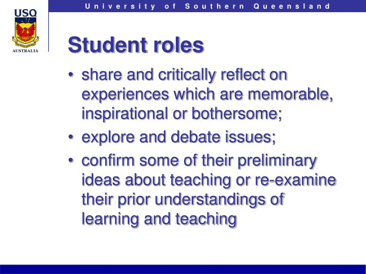 Student roles