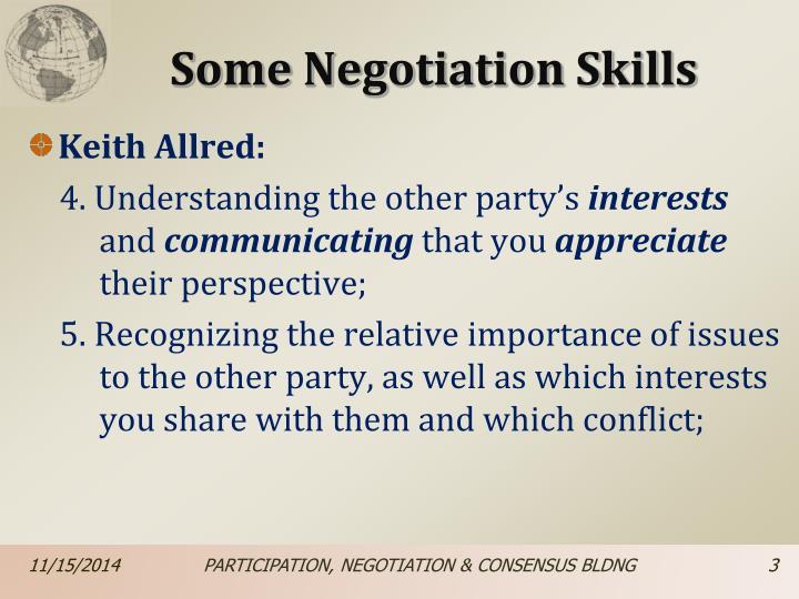 Some negotiation skills1