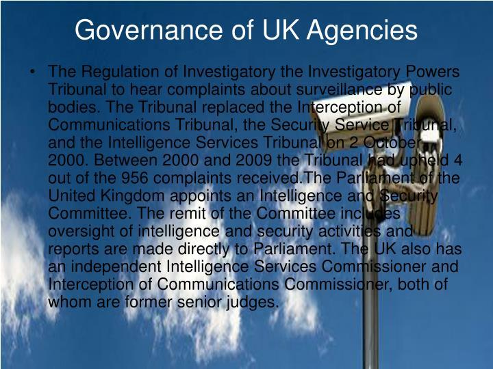 Governance of UK Agencies