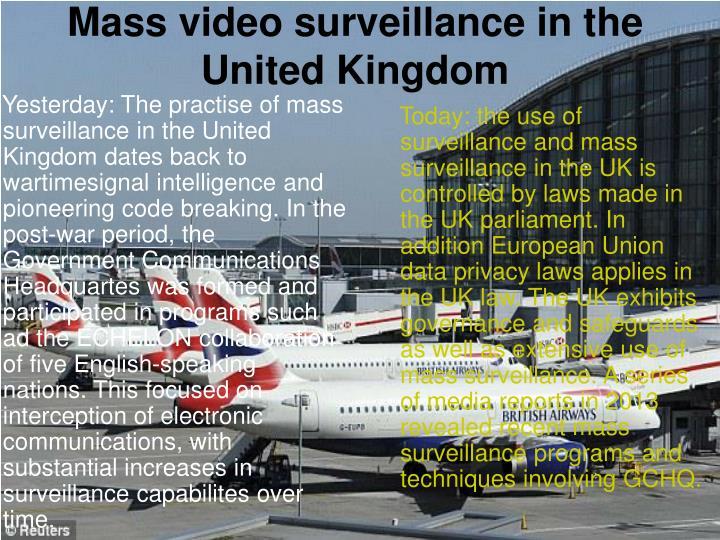 Mass video surveillance in the united kingdom