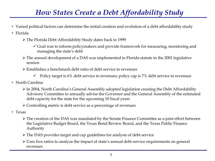 Debt Affordability Study - COJ.net