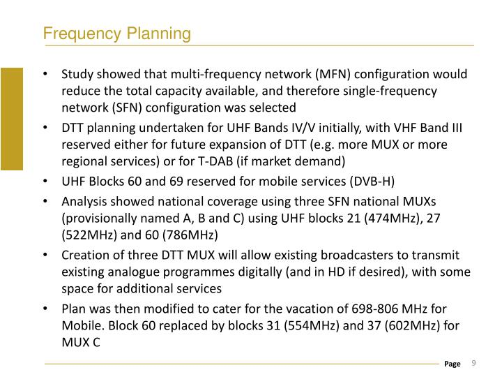 Frequency Planning