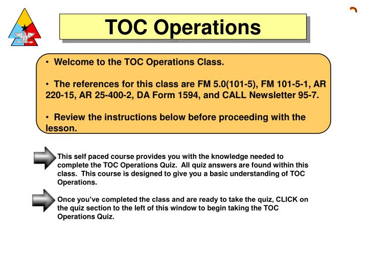 Ppt welcome to the toc operations class powerpoint presentation welcome to the toc operations class toneelgroepblik Image collections