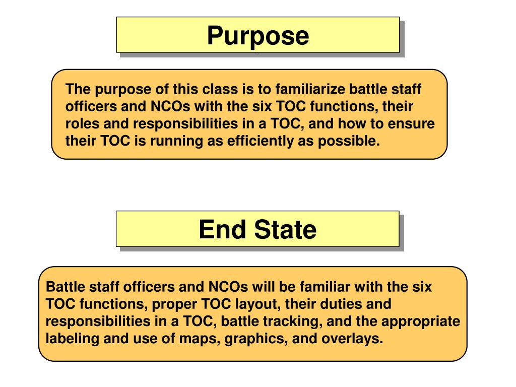PPT - Welcome to the TOC Operations Class  PowerPoint