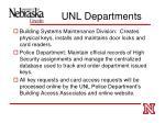 unl departments