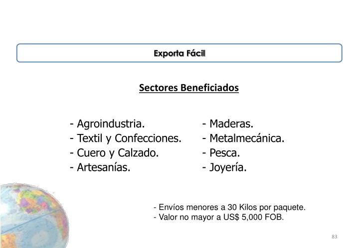Sectores Beneficiados