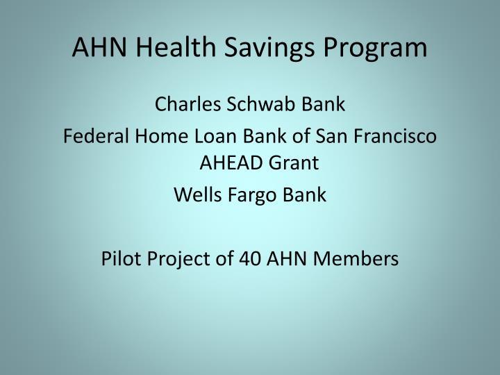 AHN Health Savings Program