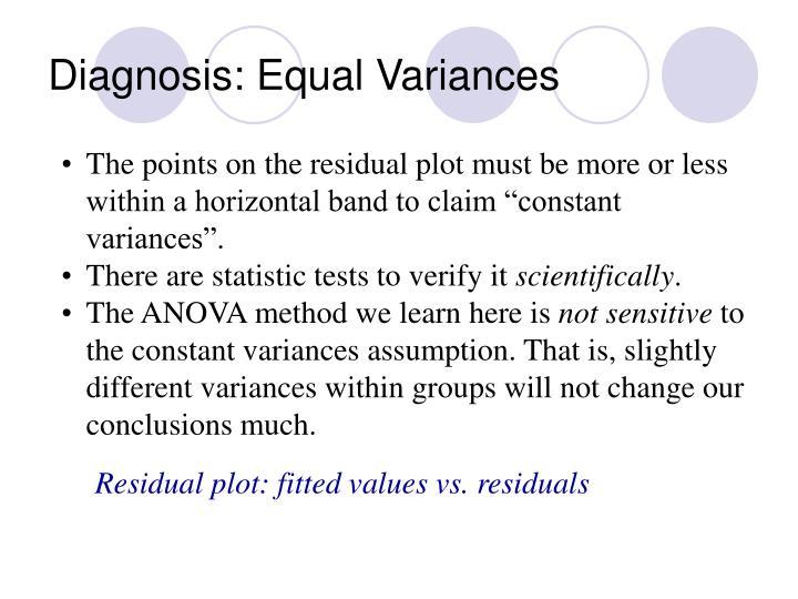 Diagnosis: Equal Variances
