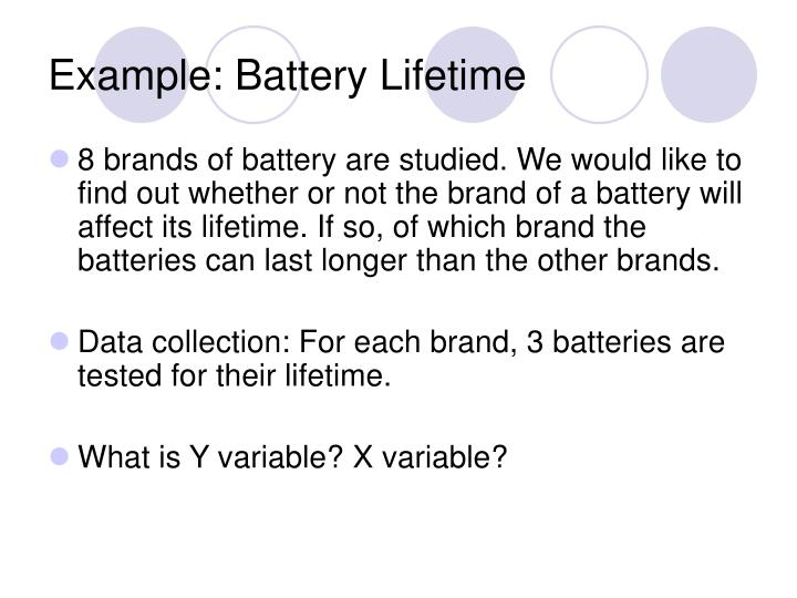 Example: Battery Lifetime