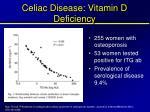 celiac disease vitamin d deficiency