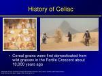history of celiac