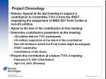project chronology