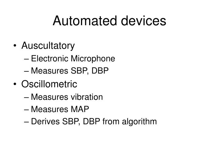 Automated devices