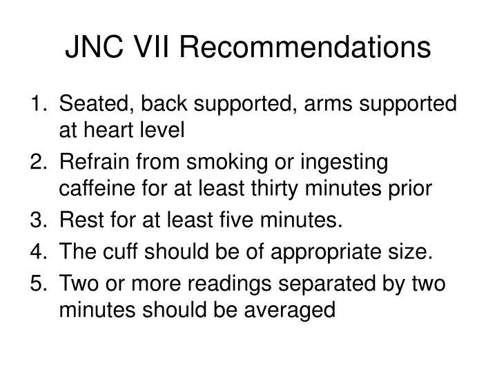 JNC VII Recommendations