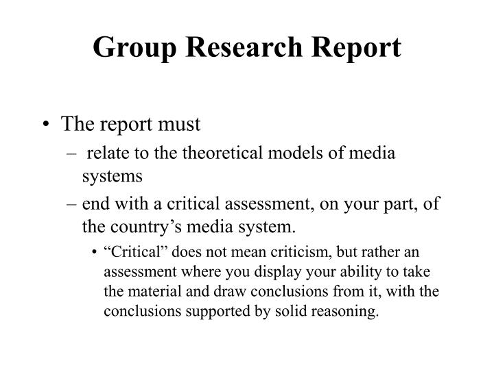 group research report n.
