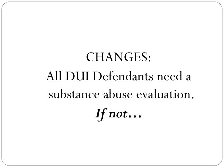 CHANGES: