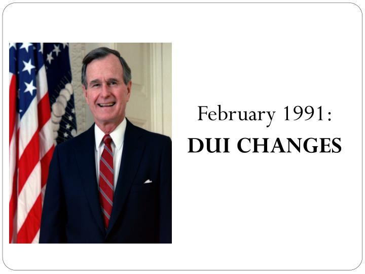 February 1991: