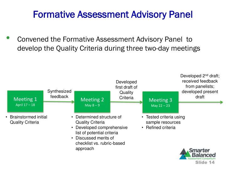 Formative Assessment Advisory Panel