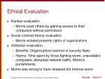 ethical evaluation