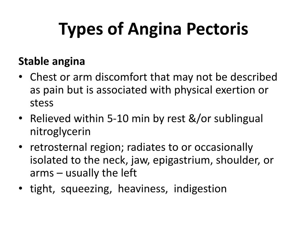 ppt - types of angina pectoris powerpoint presentation - id:6646525