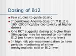 dosing of b12