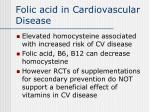 folic acid in cardiovascular disease