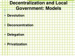 decentralization and local government models