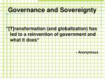 governance and sovereignty