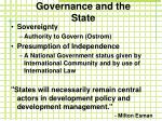 governance and the state