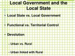 local government and the local state